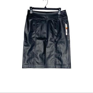 Dana Buchman Faux PU Leather Pencil Skirt Black 4